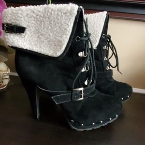 XOXO Blondie Laced Bootie Size 10M